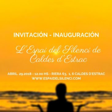 El 29 d'abril s'inaugura l'Espai del Silenci.. us hi esperem amb un concert de cell de Feliu Llobet amb obres de J.S.Bach